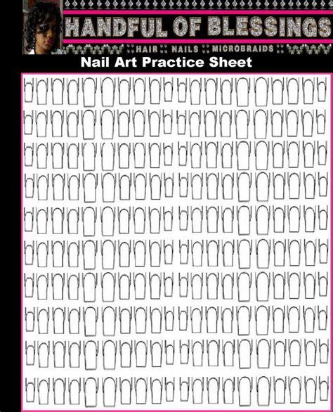 printable nail art a handful of blessings printable nail art practice sheet