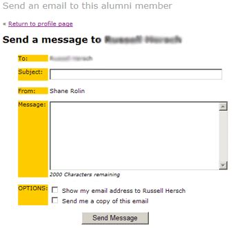 email alumni ui online web based alumni management and contact application