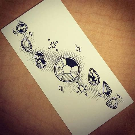 simple tattoo gem rough sketches of steven universe tattoo flash ideas