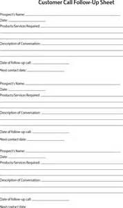 Customer Call Sheet Template by 80 20 Prospect Sheet Customer Call Follow Up Call Sheet