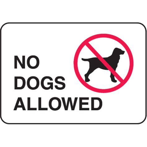 no dogs allowed sign no dogs allowed signs property security signs seton