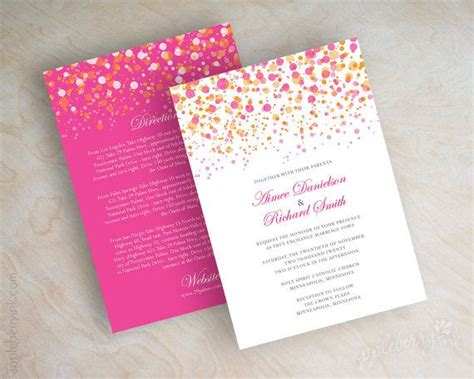Cheap Wedding Invitations Pink And Orange by Polka Dot Wedding Fuchsia Wedding Invitations And Wedding
