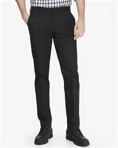 skinny innovator black cotton dress pant express