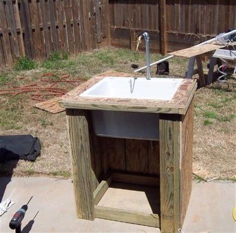 Cheap Kitchen Sink Faucets diy yard sink outdoor sink overhaul pinterest