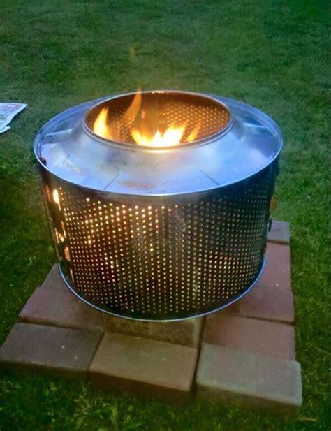 feuerkorb feuerschale projektbericht waschmaschinentrommel als feuerkorb