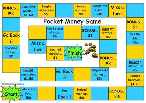 printable money board games ks1 pocket money board game k 3 teacher resources
