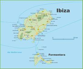 Ibiza Spain Map by Map Of Ibiza And Formentera