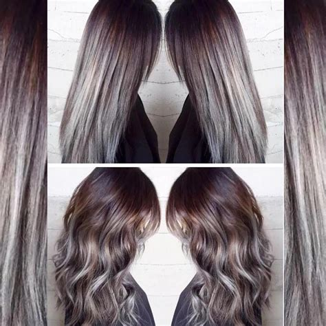 charcoal hair color charcoal to icy silvery blue color melt hair colors ideas