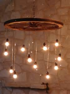 Diy Wagon Wheel Chandelier Idea For Lighting To Build Wagon Wheel Pendant Globe Lights Chain Random Length Wagon Wheel