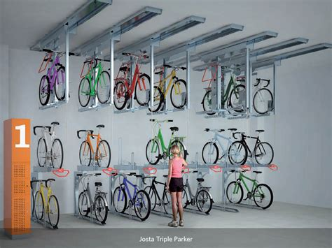 Bike Rack Parking Systems by Josta 174 Tripleparker Bicycle Parking System Cycle Works
