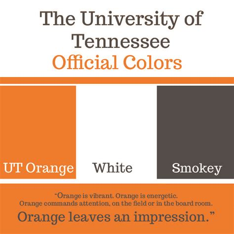 tennessee colors official colors for the of tennessee sport