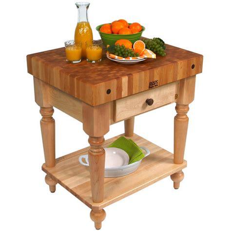 John Boos Kitchen Cart Work Tables 30 Cucina Rustica Butcher Block Shelves