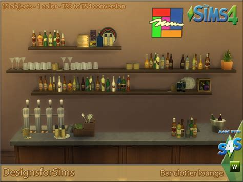 clutter sims 4 updates best ts4 cc downloads ts3 to ts4 conversion bar lounge clutter designs for