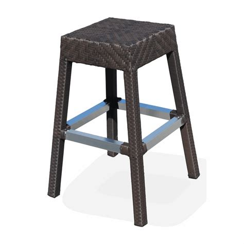 Wicker Outdoor Bar Stools outdoor resin wicker miami bar stool bar restaurant