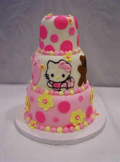 hello kitty baby shower cake for baby shower cakes pinterest babies for girls and