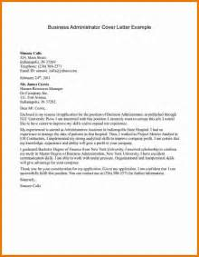 Corporate Administrator Cover Letter business letter exle for students free business template