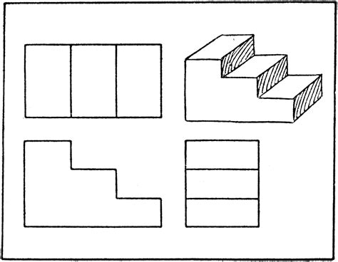 orthographic drawing 3d drawing