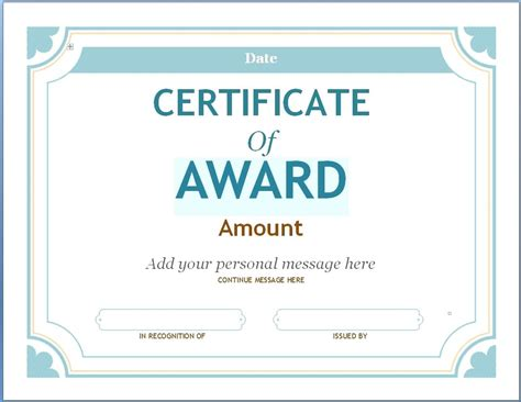 certificate template with elegant design vector free
