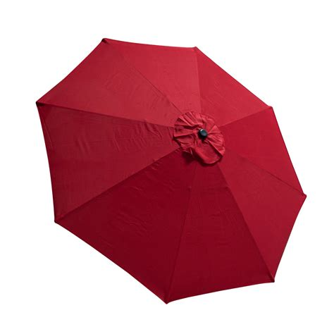 9 FT 8 Ribs Replacement Umbrella Cover Canopy Red Top
