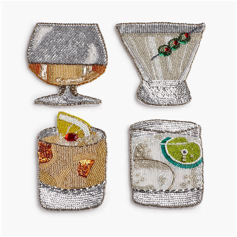 beaded coasters seybert beaded coasters set of 4 gump s