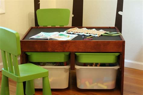 Activity Table With Storage by Diy Convertible Activity Table Magnetic Chalkboard
