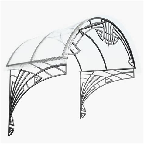 wrought iron awnings wrought iron awning 3d max