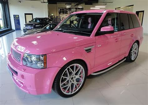 pink range rover get it in pink everything pink looking for a pink car