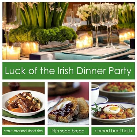 dinner party ideas dinner party ideas for st patricks day entertaining