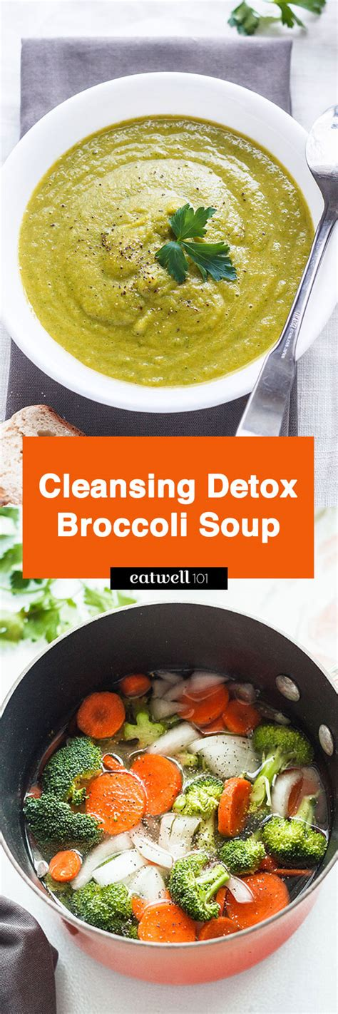 Detox Broccoli Zucchni Soup by Cleansing Detox Broccoli Soup Recipe Eatwell101