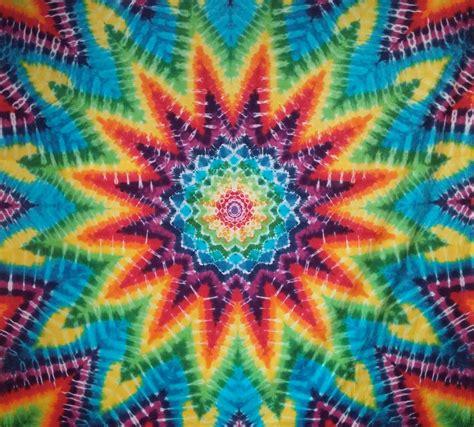 dreamcatcher mandala rainbow tie dye tapestry