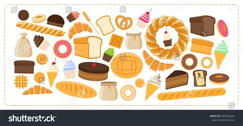 workshop layout for bread and pastry vector illustration flat design style set stock vector