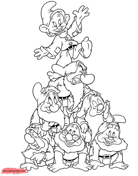 snow white and the seven dwarfs coloring pages 5 disney