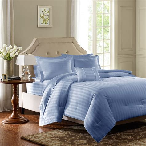 madison park 300tc dobby stripe comforter set ebay