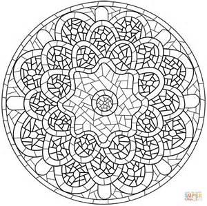 Mosaik Muster Vorlagen Ausdrucken Ausmalbild Mandala Mit Mosaik Muster Ausmalbilder Kostenlos Zum Ausdrucken