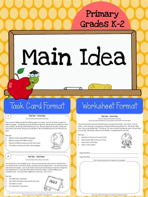 finding the main idea multiple choice worksheets main multiple choice main idea worksheets 4th grade main idea