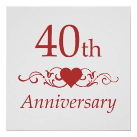 40th wedding anniversary messages for parents 40th wedding anniversary quotes quotesgram