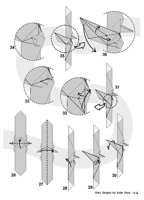 Origami Dragonfly Diagram - origami and paper on
