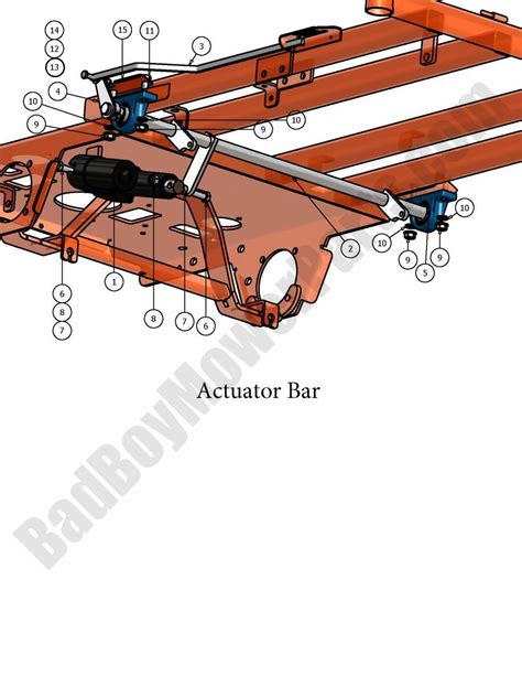 Actuator 2 Position Bed bad boy parts lookup 2007 pup actuator bar