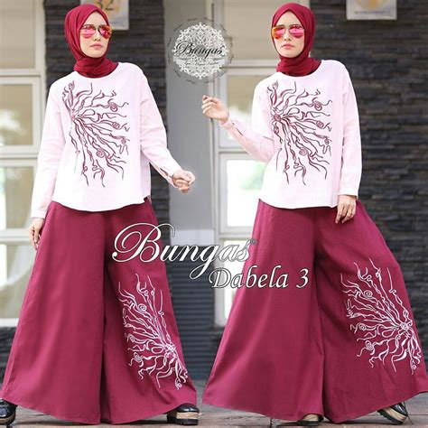 Set Kulot Bordir by Dabela 3 Kulot Set By Bungas Jual Busana Muslim