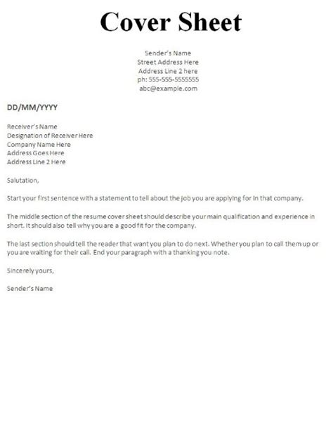 resume cover page how to make a cover letter for a fax 12 how to write a fax
