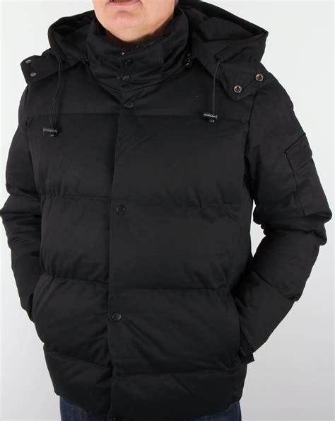 Padded Hooded Jacket bellfield orsted quilted jacket black padded coat parka mens