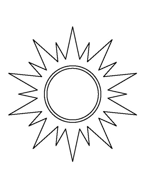 sun coloring page pdf sun pattern use the printable outline for crafts