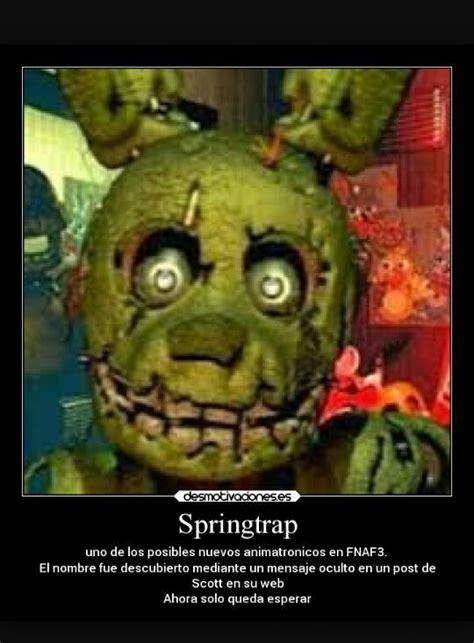 imagenes ocultas de springtrap dibujos e imagenes graciosas de fnaf springtrap wattpad
