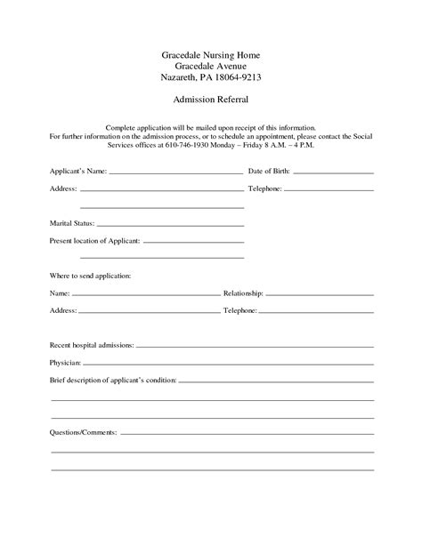 How To Make A Hospital Discharge Paper - hospital discharge papers printable my