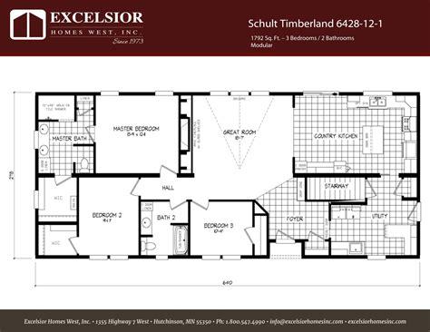 schult main street 6428 12 excelsior west inc schult timberland 6428 12 1 excelsior homes west inc