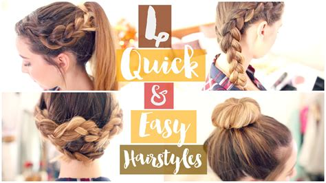 hairstyles easy and quick and cute how to 4 quick easy hairstyles zoella ad youtube