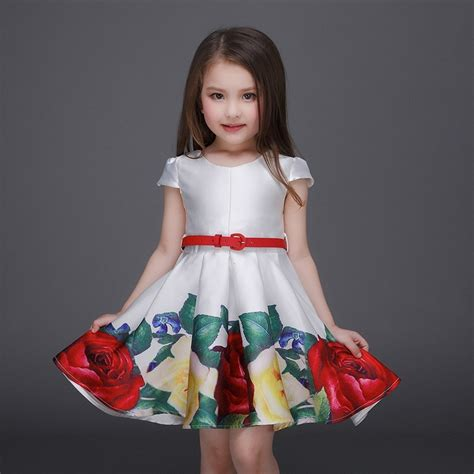 pattern party dress ᑎ 2016 princess girls ᐊ floral floral dresses summer baby