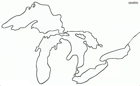 template of michigan michigan great lakes coloring coloring pages