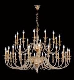 Contemporary Glass Chandeliers Modern Murano Glass Chandelier With Gold Metal