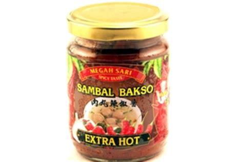 Sambal Terasi Megah Sari megah sari sambal bakso pedas meatball chili sauce 8 80z 6 units 838452002958